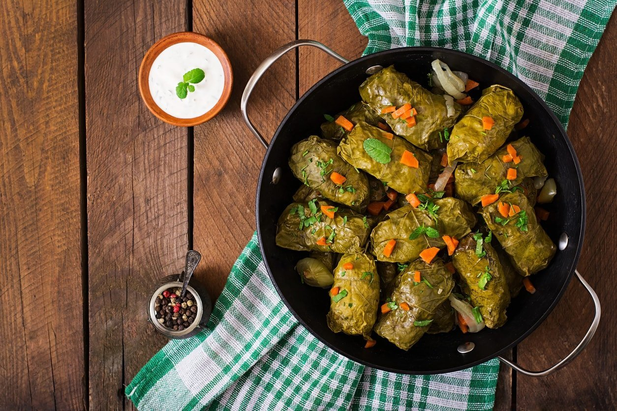 Виноградные листья с мясом рецепт